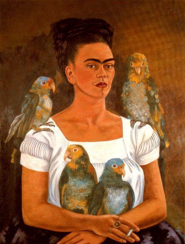 kahlo-yo-y-mis-loros-1941.jpg Pintando su propia vida
